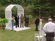 Outdoors wedding picture